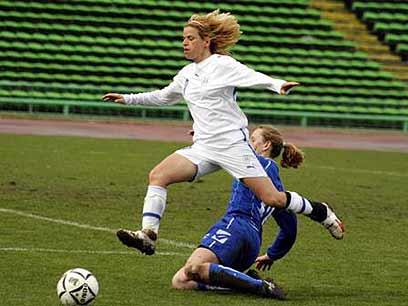 סילבי ז'אן במדי נבחרת ישראל. גם פה היא כיכבה (צילום: Fedja Krvavac) (צילום: Fedja Krvavac)