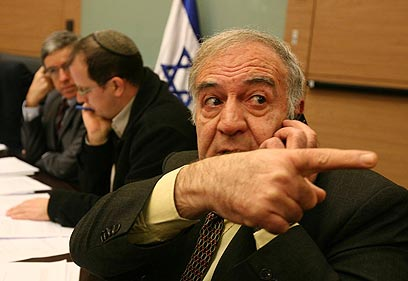 Said Nafa at the Knesset (Photo: Gil Yohanan)