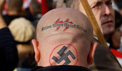 Neo-Nazi protest. 'Now more than ever we need actions to prevent a further descent into anti-Semitism, racism and xenophobia' (Photo: Reuters)
