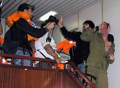 Clashes on board the Marmara (Photo: Reuters) (Photo: Reuters)