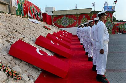 Coffins of Marmara victims (Photo: AP)