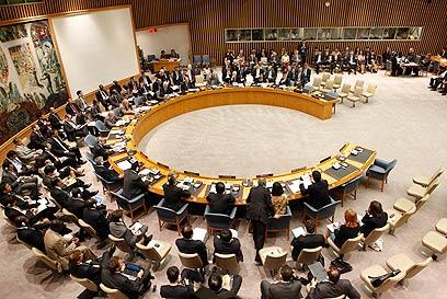 """כך מכריזים על מדינה. מועצת הביטחון של האו""""ם (צילום: רויטרס) (צילום: רויטרס)"""