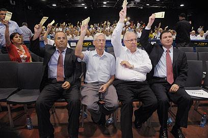 """""""מרכז הליכוד חוזר לנהל את המדינה"""", טען ח""""כ גילאון (צילום: ירון ברנר) (צילום: ירון ברנר)"""