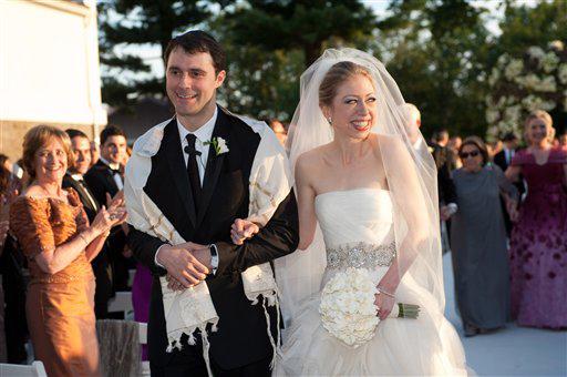 חתונתם של צ'לסי קלינטון ומארק מזבינסקי (צילום: AP) (צילום: AP)