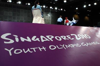חיימוביץ' במהלך אולימפיאדת הנוער בה זכה בזהב (צילום: רויטרס) (צילום: רויטרס)