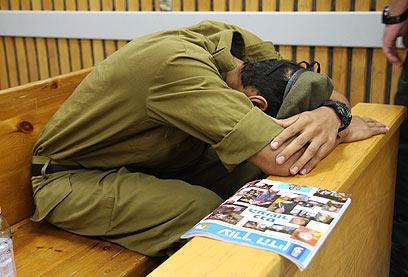 אחד החיילים המואשמים ברכישת המחשבים הגנובים (צילום: אבישג שאר-ישוב ) (צילום: אבישג שאר-ישוב )