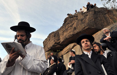 Jewish pilgrims in Uman. 'Their goal is that the Hasidim won't come to Ukraine at all (Archive photo: AFP)