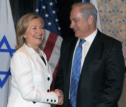 Hillary Clinton with Prime Minister Benjamin Netanyahu (Photo: GPO, Moshe Milner)