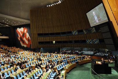 """העצרת הכללית של האו""""ם. מאמצים של הרגע האחרון (צילום: שחר עזרן) (צילום: שחר עזרן)"""
