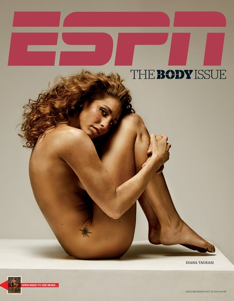 הייתה אפילו על שער מגזין הגוף של ESPN. בעירום כמובן