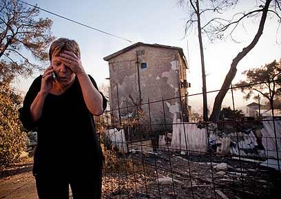 כ-17 אלף איש פונו מבתיהם, כ-250 מבנים נשרפו (צילום: מתי אלמליח) (צילום: מתי אלמליח)