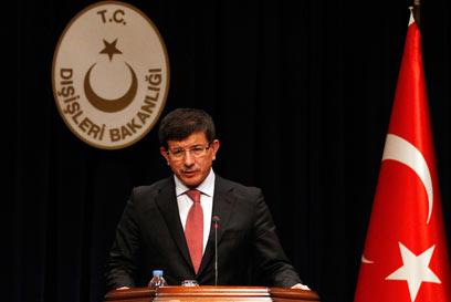 שר החוץ של טורקיה, דבוטאולו. אולטימטום של 24 שעות (צילום: רויטרס) (צילום: רויטרס)