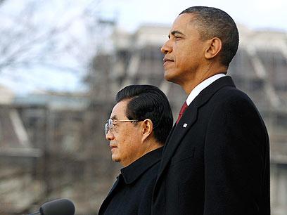 אובמה ונשיא סין, הו ג'ינטאו. הנפט יסכל סנקציות? (צילום: רויטרס) (צילום: רויטרס)