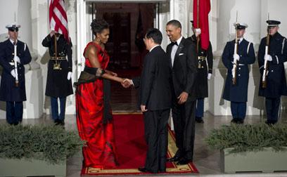 נשיא סין מבקר בבית הלבן (צילום: AFP) (צילום: AFP)