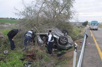 תאונת הדרכים הטראגית. הנהג האשים את חברו המנוח (צילום:  אבי רוקח ) (צילום:  אבי רוקח )