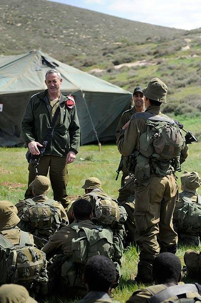 Benny Gantz as IDF chief (Photo: GPO)