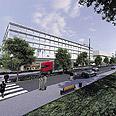 המרכז המסחרי החדש. הדמיה