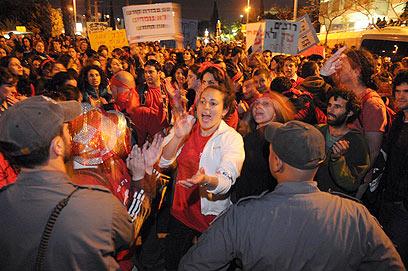 """מחאת העובדים הסוציאלים, 2011. """"דבר לא השתנה"""" (צילום: ירון ברנר) (צילום: ירון ברנר)"""