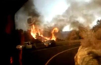 השריפה בכרמל. 44 הרוגים (צילום :באדיבות ערוץ הכנסת) (צילום :באדיבות ערוץ הכנסת)