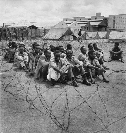 מורדי מאו מאו במחנה מעצר בקניה               (צילום: gettyimages imagebank) (צילום: gettyimages imagebank)
