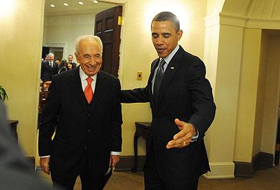 """פרס ואובמה. נשיא ארה""""ב ישתכנע? (צילום: מארק ניימן, לע""""מ) (צילום: מארק ניימן, לע"""