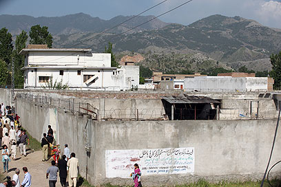 Bin Laden's house in Pakistan, after the hit (Photo: Tzur Seizaf)