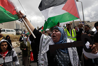 Palestinians rally in east Jerusalem (Photo: Reuters)