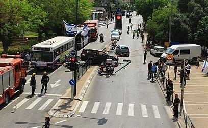 הפיגוע בתל-אביב במאי (צילום: עופר עמרם) (צילום: עופר עמרם)