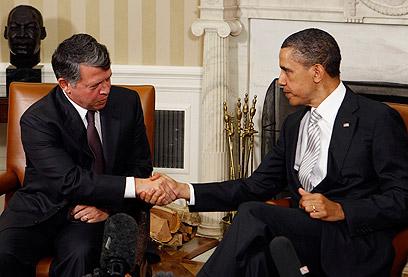 """עבדאללה נפגש עם אובמה בבית הלבן. """"אין לחץ על ירדן"""" (צילום: רויטרס) (צילום: רויטרס)"""