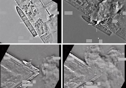 """רגע לפני פתיחת המבצע, מטוסי נאט""""ו החלו להפציץ מטרות בטריפולי (צילום: AP) (צילום: AP)"""