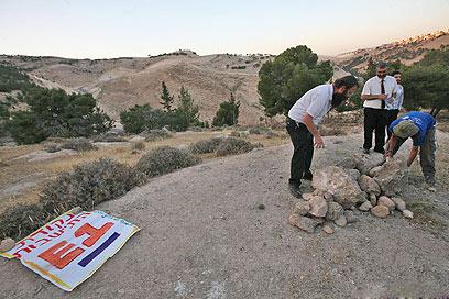 הקמת מאחזים ליד מעלה אדומים (ארכיון) (צילום: גיל יוחנן ) (צילום: גיל יוחנן )