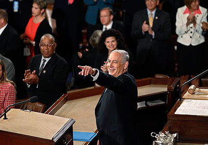 Netanyahu addresses Congress (Photo: Reuters)
