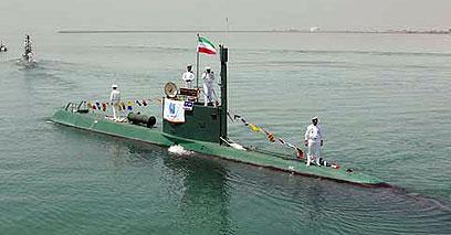 צוללת איראנית (ארכיון). לא נופלות מהצוללות במערב ()