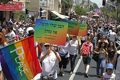 קהילה שתורמת למדינה. מצעד הגאווה בשנה שעברה (צילום: עופר עמרם ) (צילום: עופר עמרם )