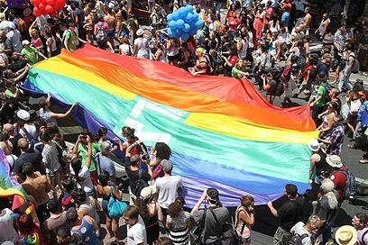 להרגיש סוף סוף חופשי. מצעד הגאווה (צילום: עופר עמרם ) (צילום: עופר עמרם )