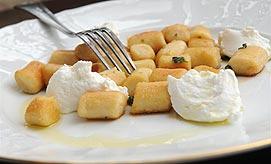 אוכל איטלקי. ניוקי תפוחי אדמה (צילום: ירון ברנר)