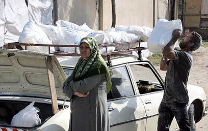 Flour provided by UNRWA to Gazans (Photo: AFP)