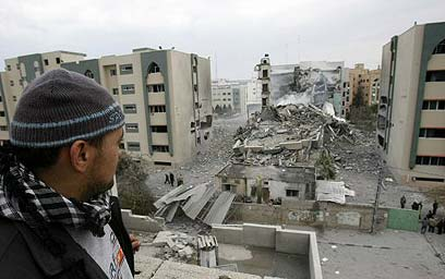 Gaza university during Operation Cast Lead in 2008 (Photo: AFP)