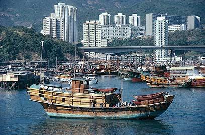 נמל ויקטוריה בהונג קונג (צילום: liquidlibrary)