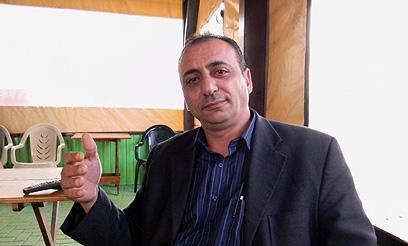 Mofaz supporter Farij (Photo: Hassan Shaalan)