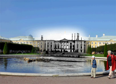ארמון פטרהוף, לנינגרד, 1941
