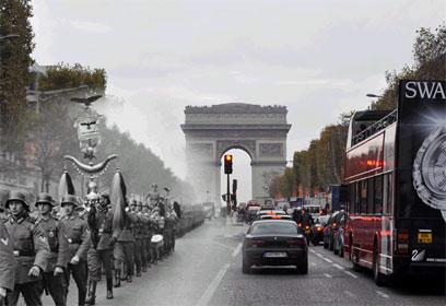 הנאצים צועדים בפריז,1940