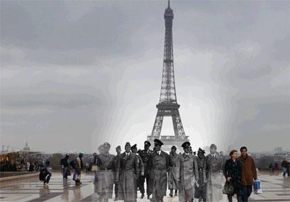 היטלר במגדל אייפל, פריז 1940