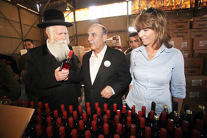 מופז, אברהם-בלילא והרב גרוסמן (צילום: מוטי קמחי) (צילום: מוטי קמחי)