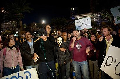 """""""עשר המכות"""", אמש בכיכר רבין (צילום: בן קלמר)"""