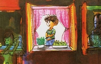 """""""והילד הזה הוא אני"""". כל אחד מוצא בו את """"האני"""" שלו (איור: דני קרמן)"""