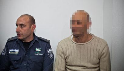 """המנכ""""ל החשוד בדיון להארכת מעצרו, היום      (צילום: נועם מושקוביץ)"""
