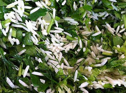 ירוק ומרענן - אורז בעשבי תיבול (צילום: אורי שביט) (צילום: אורי שביט)