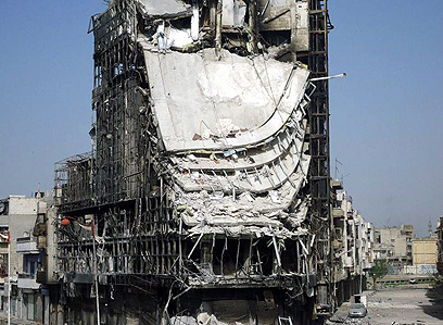 Destroyed building in Homs (Photo: EPA) (Photo: EPA)