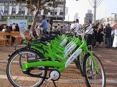 """תל אופן - פרויקט השכרת האופניים של ת""""א (צילום: ארגון חיים וסביבה)"""